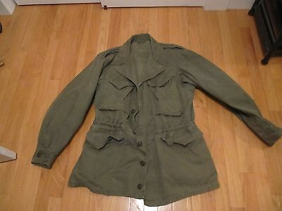 Ww2 Us Army Marine Combat Jacket M 1943 Great Condition Light Wear Intact
