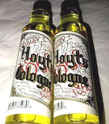 2 TWO 2 - HOYT'S COLOGNE Good Luck Witchcraft Hoodoo Wicca Classic HOYTS 5oz