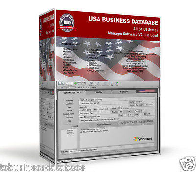 14 MILLIONS USA US BUSINESS DATABASE + Contact Manager Software | Marketing