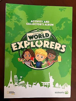 Woolworths World Explorers Collector's Album Complete With Cards & Stickers New!