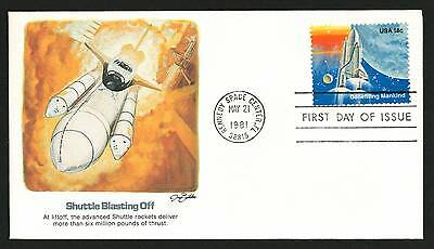 "U.S. Space Shuttle Collection 1981 Amazing V.F. FDC ""Shuttle Blasting Off"""