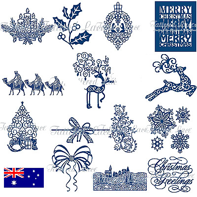 TATTERED LACE cutting die dies Festive Collection AU STOCK FREE P&P Christmas