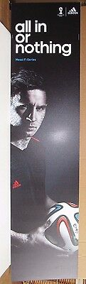 Lionel Messi Fifa World Cup Adidas F-Series Used 12X48 Display Sign