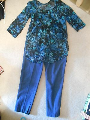 Maternity 2 Piece Outfit, Jeans And Top/sz S-M.euc