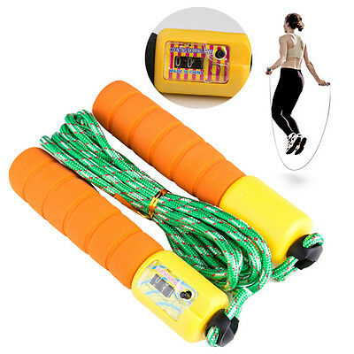 Skipping Boxing MMA Gym Jump Rope Speed Counter Handles Crossfit Cable Fitness