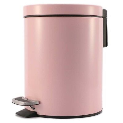 Foot Pedal Stainless Steel Rubbish Recycling Garbage Waste Trash Bin R Pink 7L