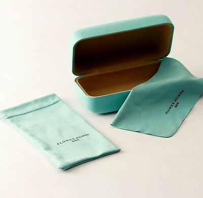 Flower Horse Green Hard Eyeglasses Cases High Quality PU Case+cloth+pouch suit