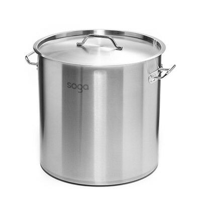 New 17Lt Top Grade Thick Stainless Steel SOGA Stock Pot 28CM 18/10 RRP $205