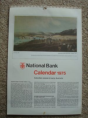 1975 NAB (National Australia Bank) Calendar - Suburban Scenes in Early Australia
