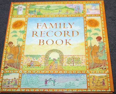 New Hardcover Book - FAMILY RECORD BOOK - A fill in keepsake family record book
