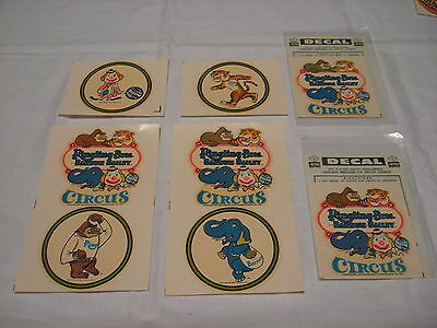 Vintage 1968-69 Ringling Bros. And Barnum & Bailey Circus Decals Lot of 6