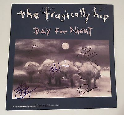 """The Tragically Hip SIGNED Day For Night 12x12"""" Poster Flat Gord Downie JSA COA"""