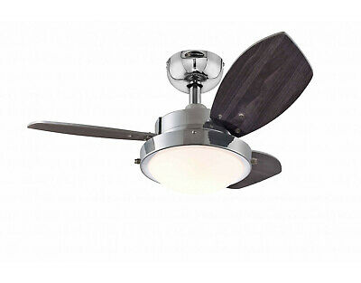 """Westinghouse Design Ceiling Fan Wengue 76 cm / 30""""  with light for small rooms"""
