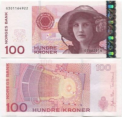 Norway 100 Kroner 2014 UNC P-49 New, sign.Olsen-Eklund