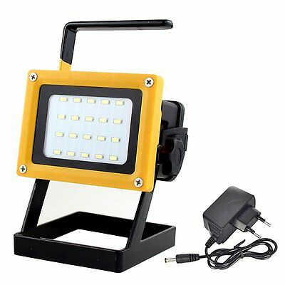 20LED 10W 5730 Rechargeable Portable Outdoor Camping LED Flood Light