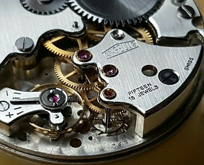 Angelus 240 Non alarm Stem Wind Movement used in Vintage Panerai  and Pam203