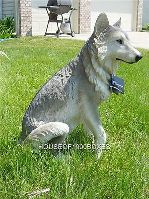 Large Wolf Statue Wolves Sitting Cabin Lodge Decor Dakota Garden Patio House