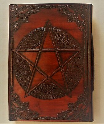 Celtic Pentagram Handmade Leather Journal Large Handcrafted Diary Wicca Pagan
