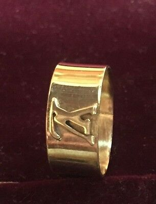 Brand New - 22k Gold Plated BEAUTIFUL VL RING FOR GENTS AND LADIES ( ALL SIZE )