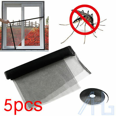 5Pc Large Window Screen Mesh Net Insect Fly Bug Mosquito Moth Door Netting Cover