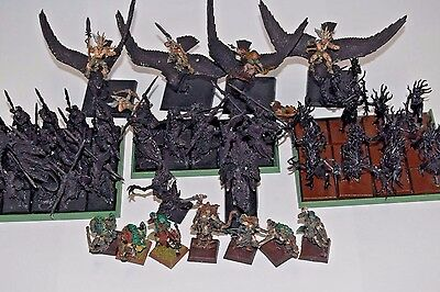 Warhammer Fantasy AoS Wood Elves Silvaneth Wanderers OOP partially painted Army