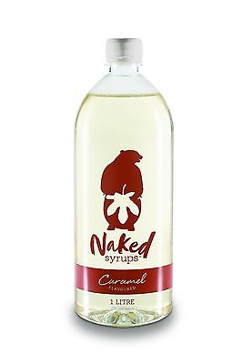 Naked Syrups Caramel Flavouring, Coffee Syrup - 1 litre