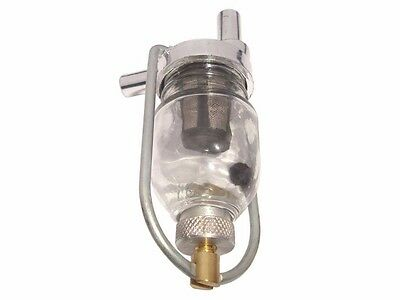 Universal Chromed Glass Bowl Fuel Filter For All Vintage Royal Enfield Free Sh