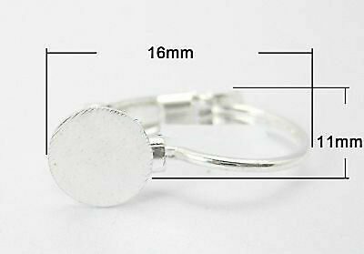 50 Lever Back Earring & Glue Pad Nickel Free Silver Color small 16 x 11mm