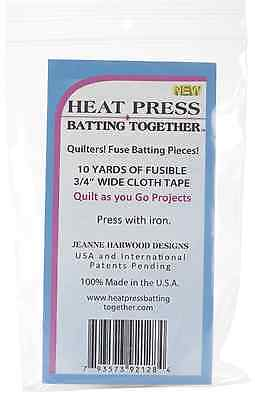 Heat Press Batting Together Tape To Join Batting pieces Together 10yds x 3/4 in