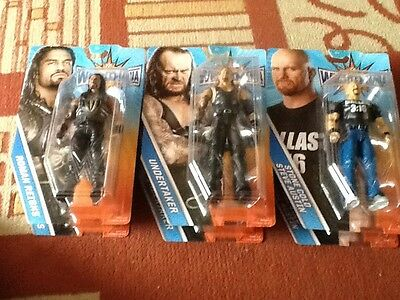 WWE Wrestlemania 33 Basic Figures Roman Reigns, Undertaker And Stone Cold