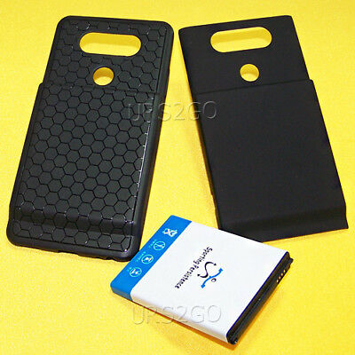 Sporting 8000mAh Extended A+ Battery TPU Cover Case for LG V20 US996 Smart Phone