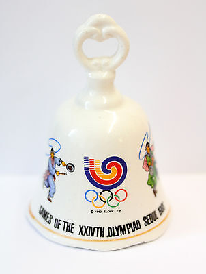 Vintage Olympics Commemorative China Bell 'Games XXIVTH Olympiad Seoul'  c1988