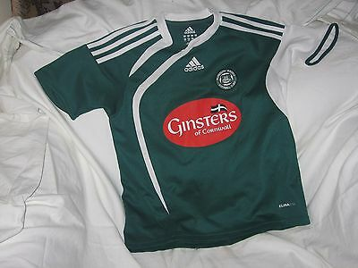 Plymouth Argyle vintage child size home shirt..free UK delivery.size 2XS