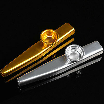 Fashion Metal Kazoo Harmonica Mouth Flute Kids Party Gift Kid Musical Instrument
