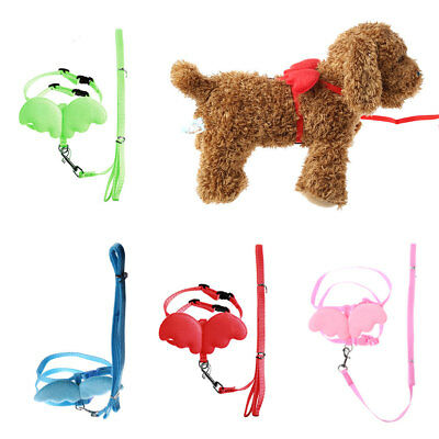 Adjustable Pet Dog Angle Wing Harness Leash Lead Strap Nylon Traction Rope
