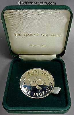 1982 Year of the Scout Medal 44mm Baden-Powell - Cased. Proof about