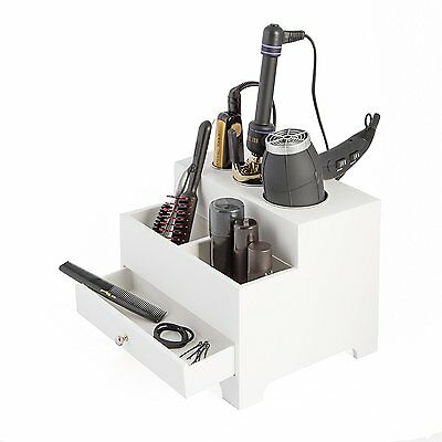 Three Compartment Hair Dryer Organizer/Holder Rack Barber Salon Styling