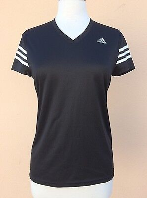 Adidas Junior's Girls Boys T-Shirt Short Sleeve Black 12-14 Years M