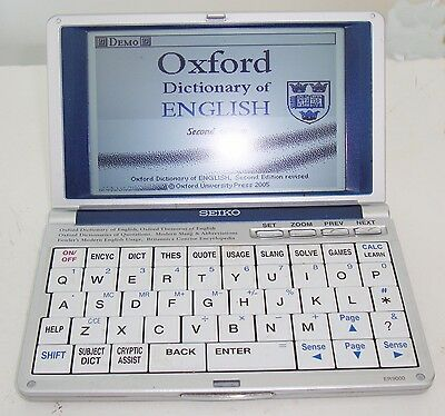 Seiko ER9000 Oxford/Britannica handheld portable Electronic Reference Library