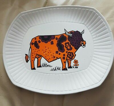 VINTAGE 1970's  BEEFEATER STEAK AND GRILL PLATE ENGLISH IRONSTONE