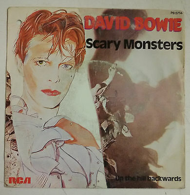 "David Bowie Scary  Monsters Single 7"" Francia 1980"