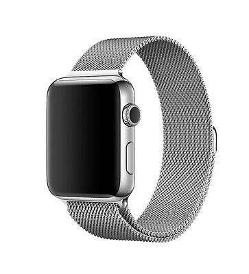 Milanese Magnetic Loop Stainless Steel Strap For Apple Watch In Silver 42mm NEW