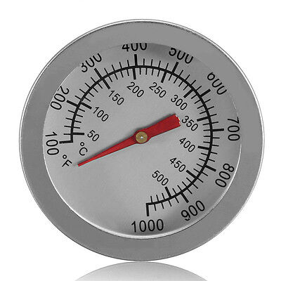 50~500℃ Dual Stainless Steel Oven Thermometer Cooking Baking Gauge BBQ Kitchen
