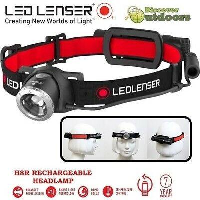 NEW Led Lenser H8R Rechargeable LED Headlamp Torch - 600 Lumens Hunting Camping