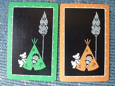 Animals Deco Bear Indian Boy PR SINGLE GENUINE VINTAGE Swap Playing Cards