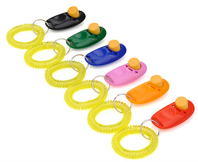 5 pcs set Pro Training Clicker Deluxe Wristband Ergonomic Design for Dog