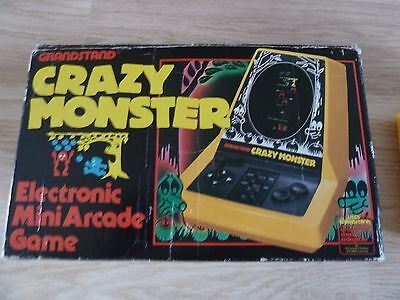 Grandstand Crazy Monster Handheld Tabletop Electronic Game Boxed Rare