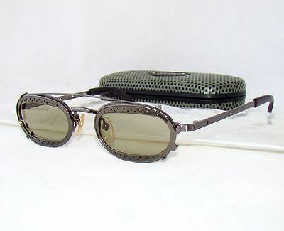 Jean Paul Gaultier 56 7116 sunglasses silver gray limited oval vintage glasses