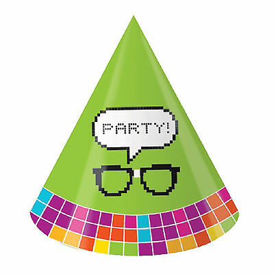 8 Get Nerdy PixelParty Hats Get Nerdy Party Kids Party Hats