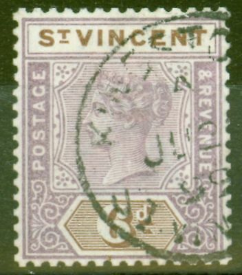 St Vincent 1899 6d Dull Mauve & Brown SG73 V.F.U
